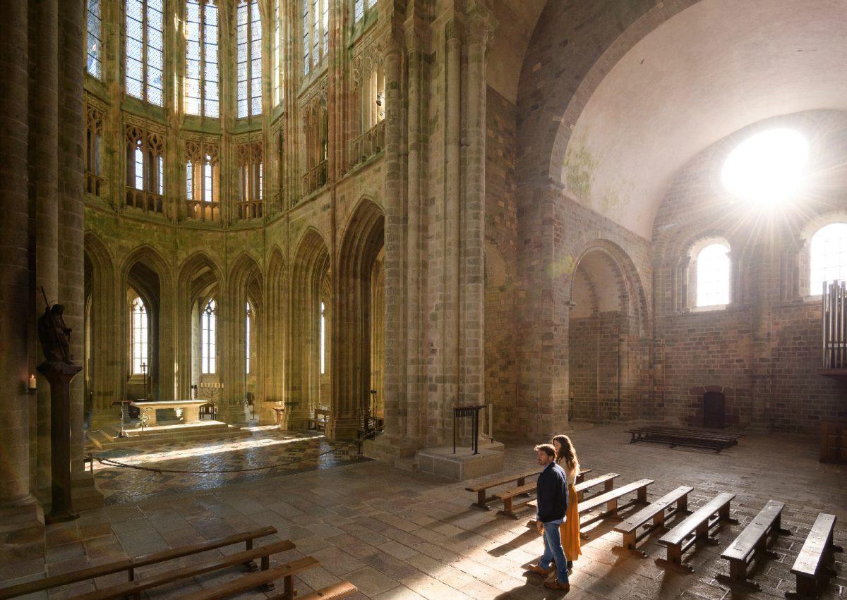 Coppia nell'Abbazia del Mont-Saint-Michel