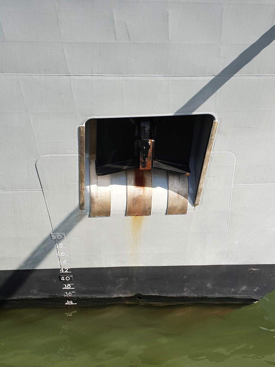 Détail d'un navire à l'Armada de Rouen