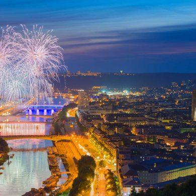 La selezione dei più bei fuochi d'artificio in Normandia