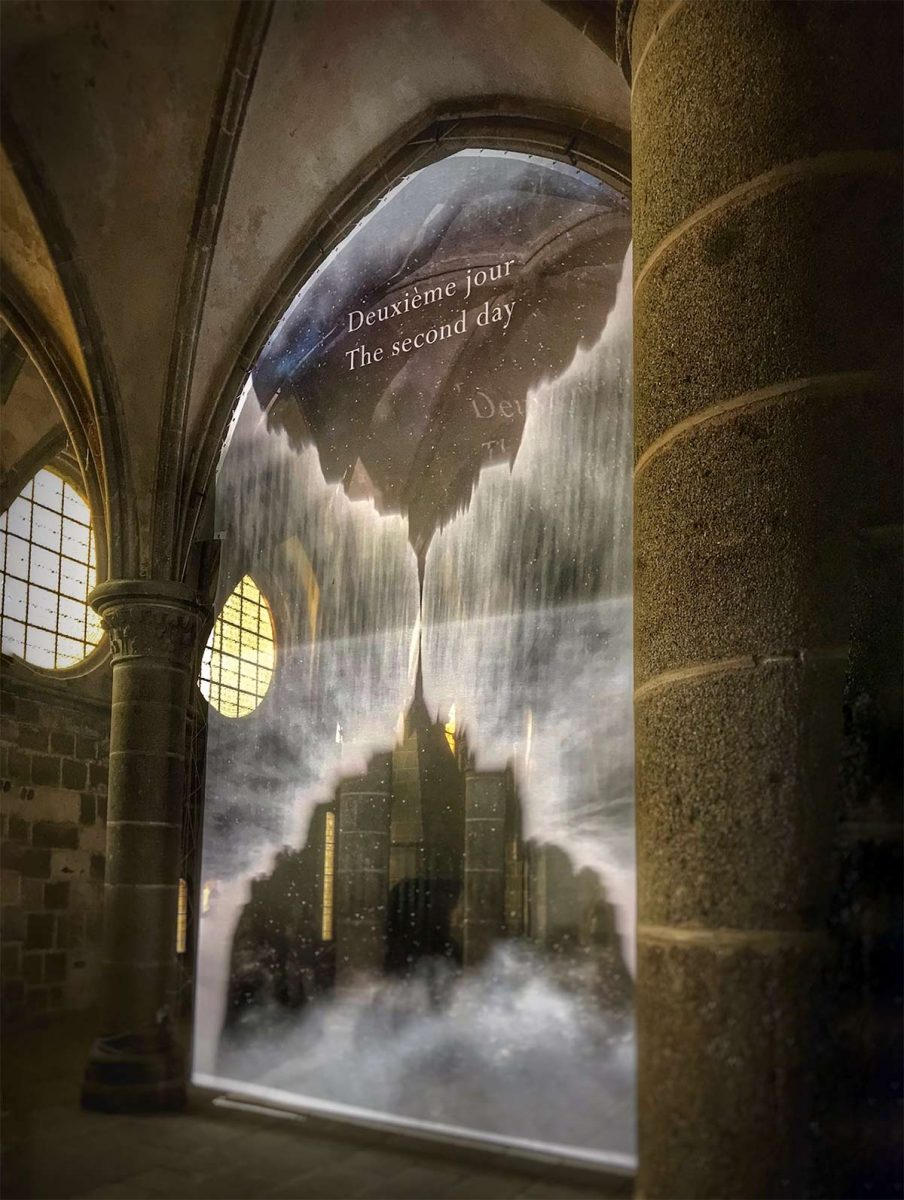 Son et lumière à l'abbaye du Mont-St-Michel