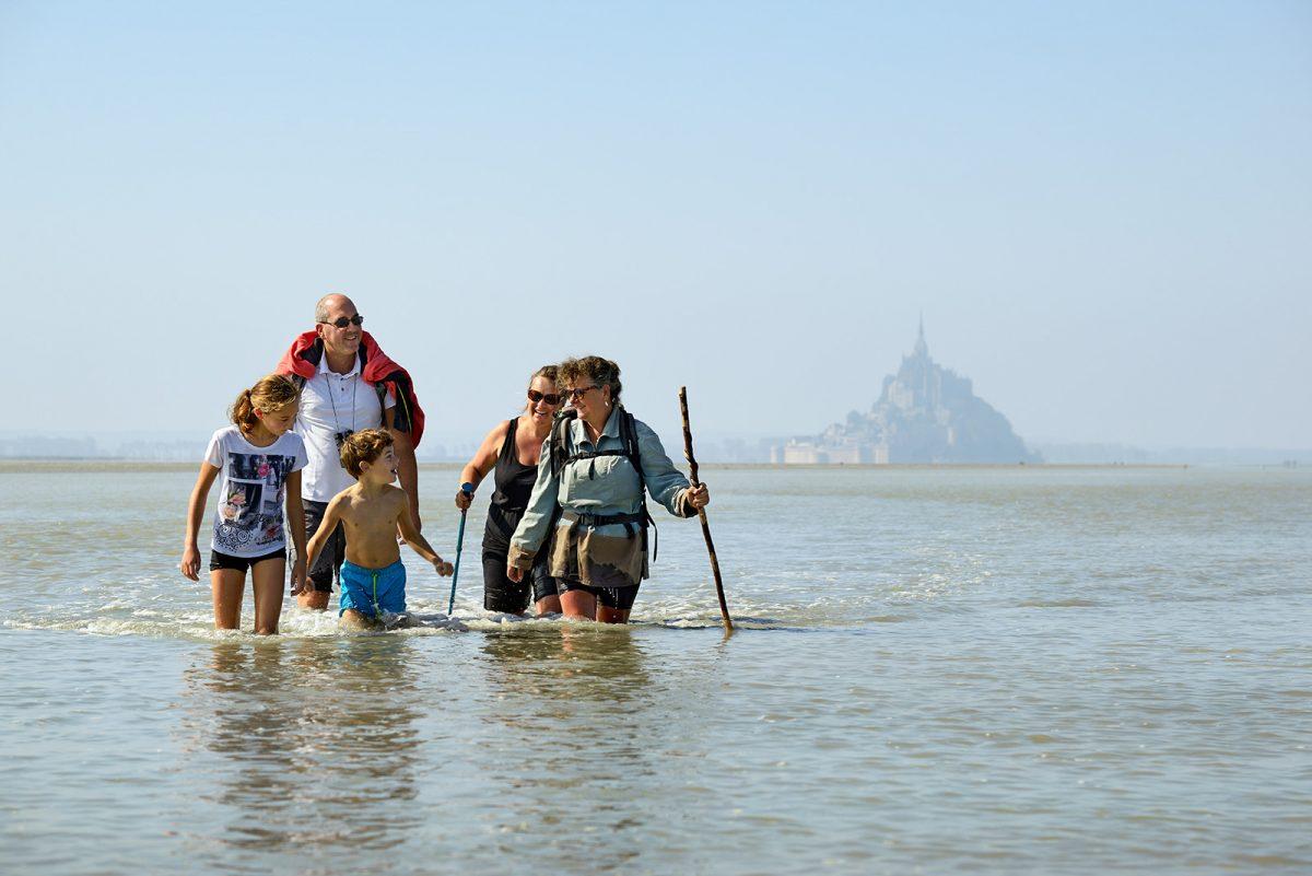 Traversée de la baie du Mont-Saint-Michel en famille - expérience