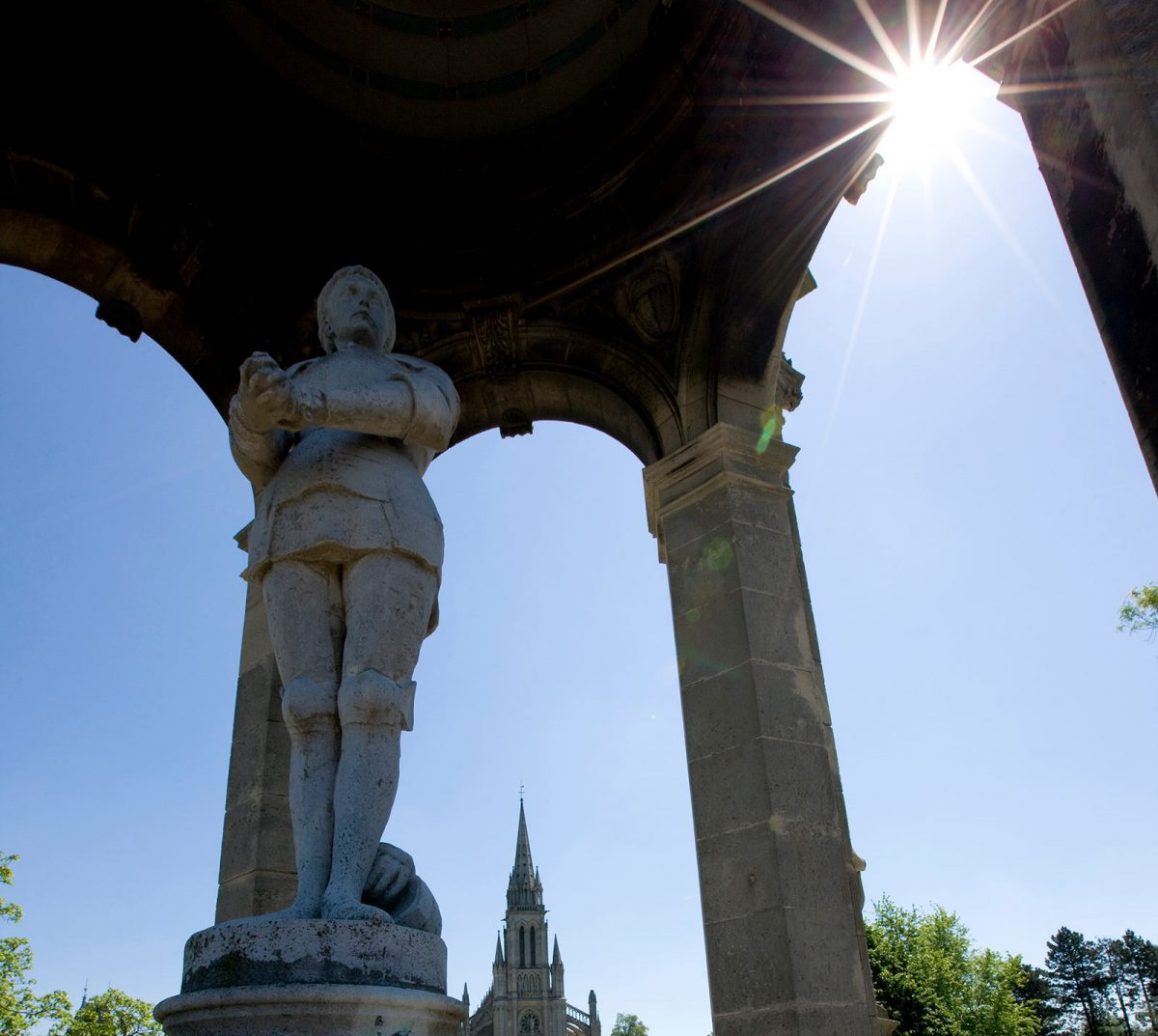 Statue de Jeanne d'Arc à Bonsecours, près de Rouen