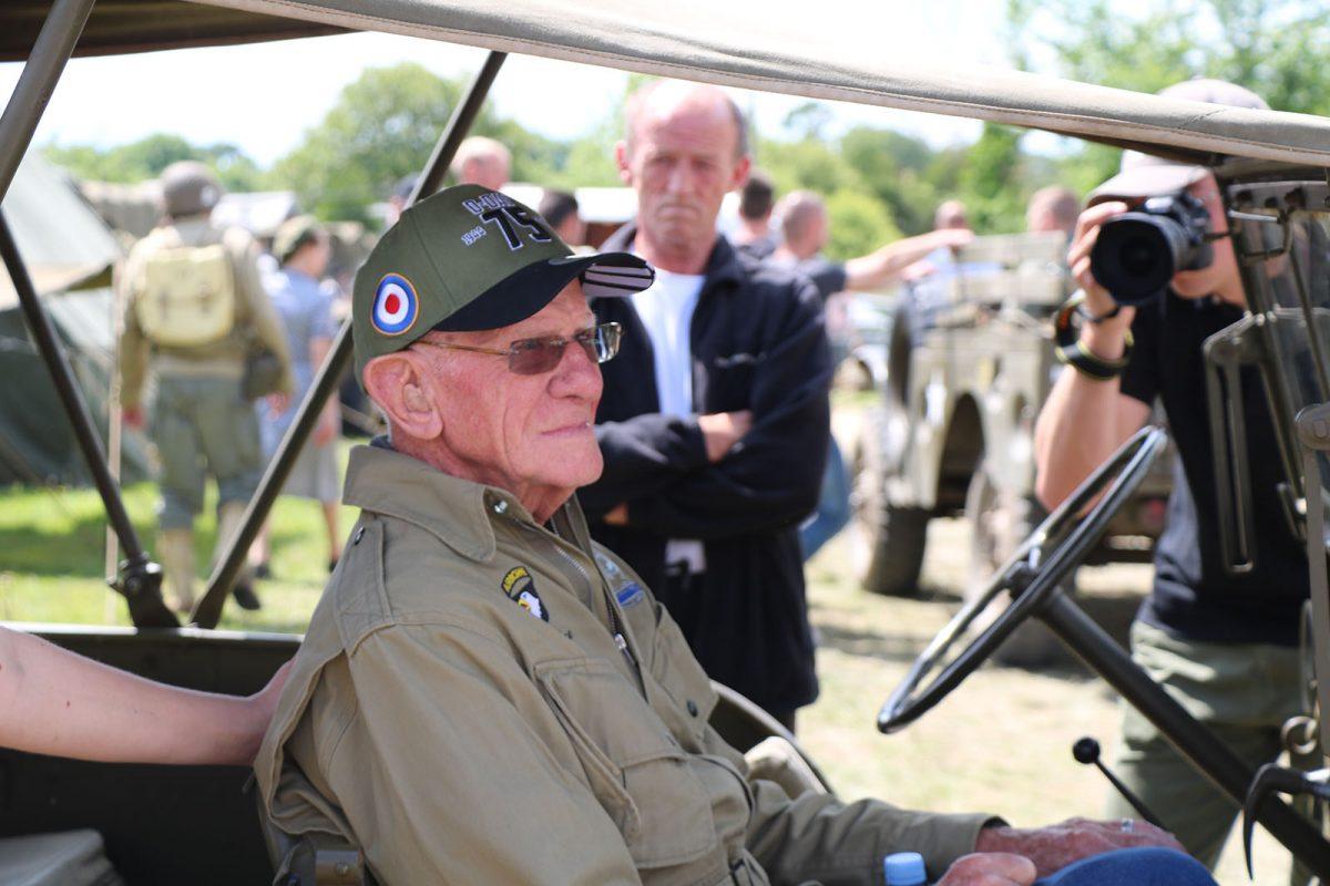 Tom Rice, vétéran au camp de reconstitution Arizona - D-Day