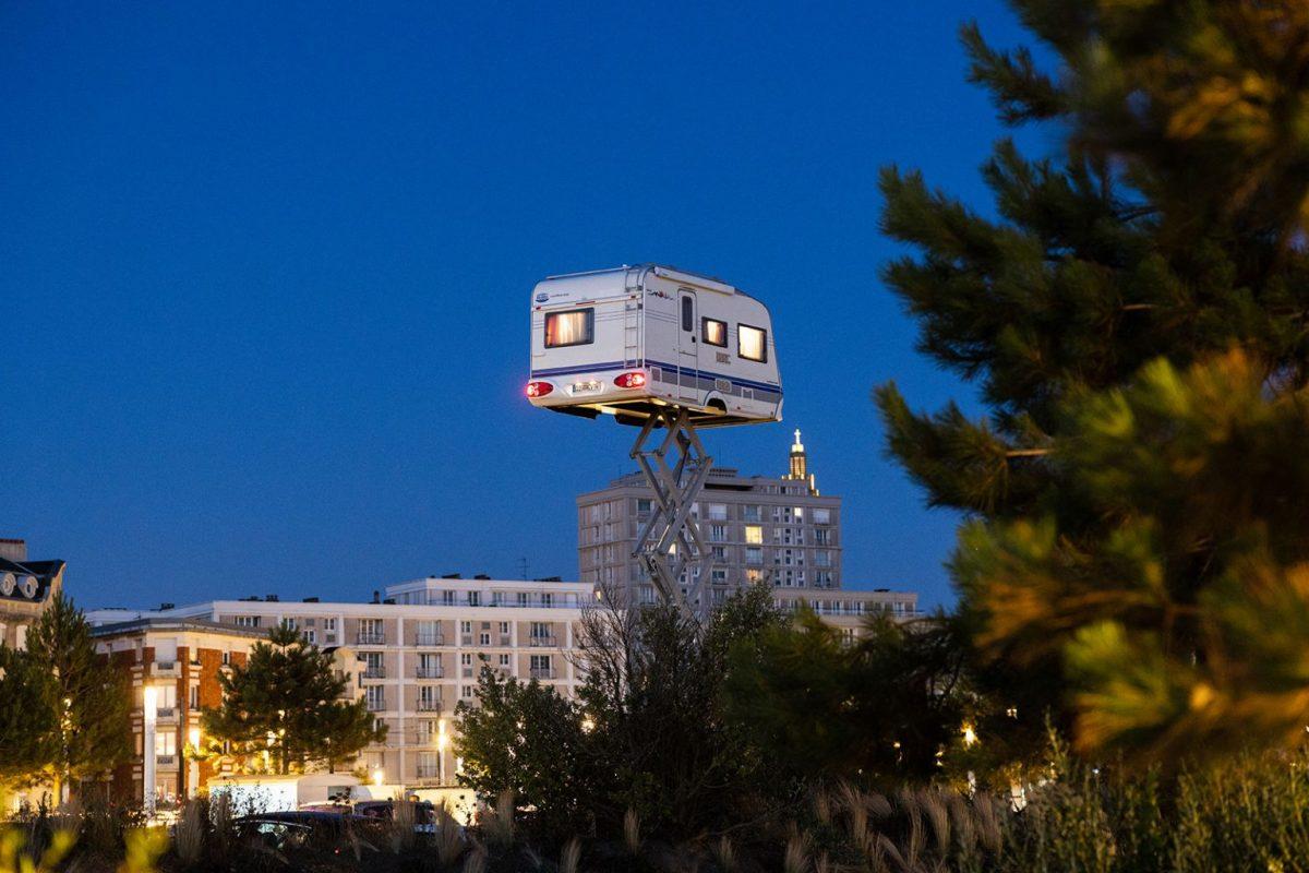 La caravane dans le ciel di Benedetto Bufalino © Jacques Basile Un ete au Havre