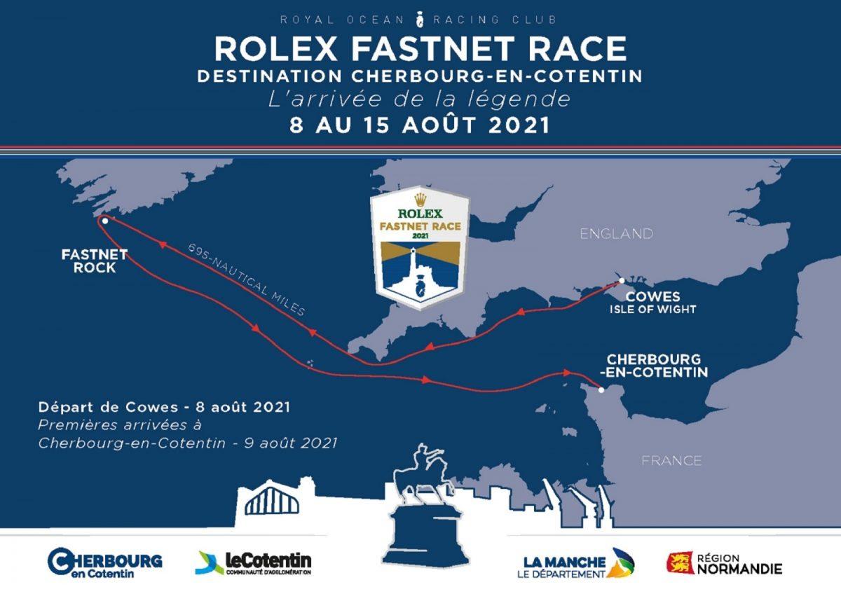 Percorso del Rolex Fastnet Race 2021